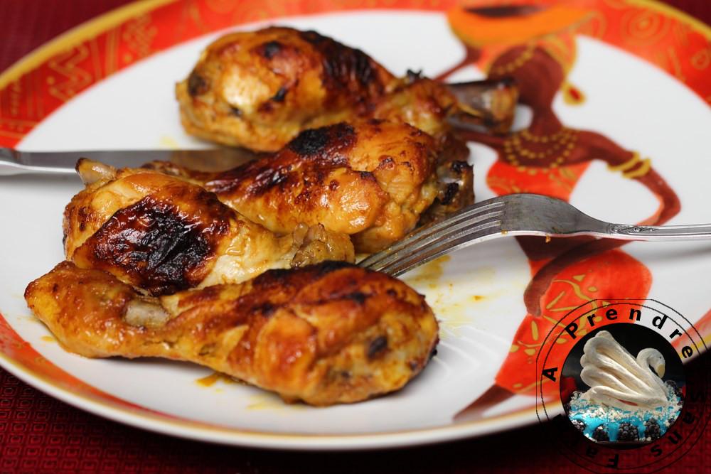 Pilons de poulet au four à l'africaine