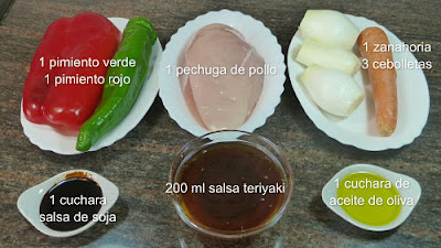 Pollo teriyaki, ingredientes