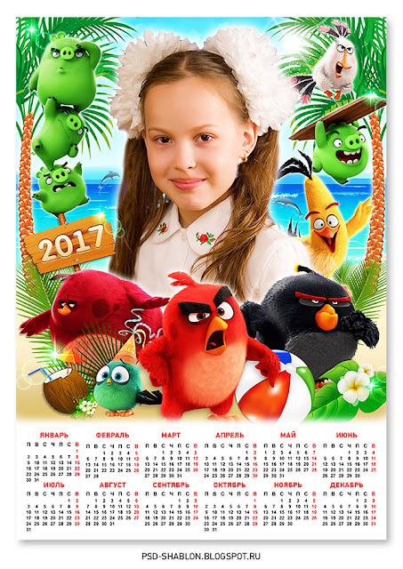 календарь angry birds