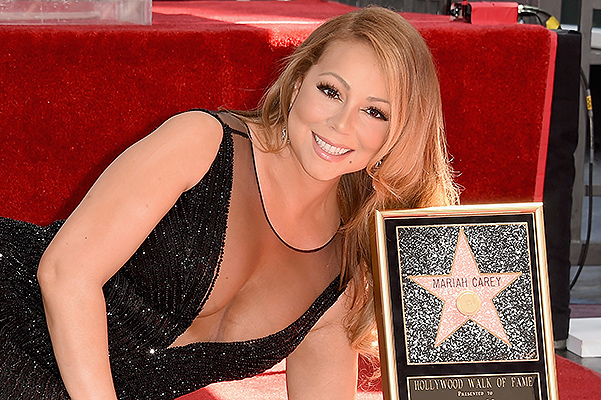 The Hollywood Walk of Fame enriched with nominal star Mariah Carey