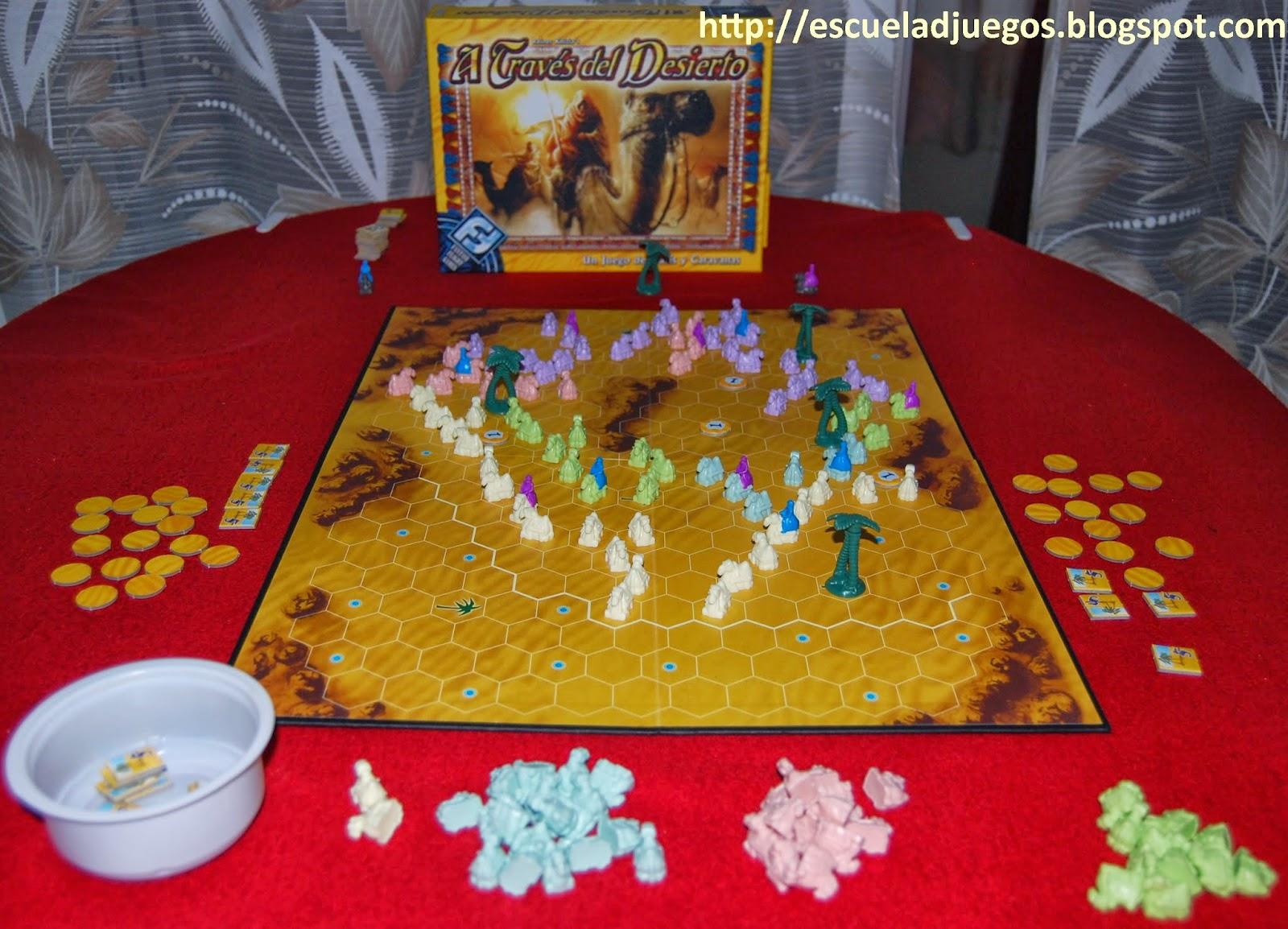 Reseña de A través del desierto o Through the desert, juego abstracto de Reiner Knizia por Escuela de Juegos