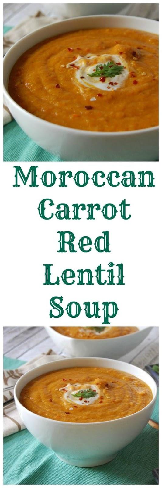 Moroccan Carrot Red Lentil Soup | CUCINA DE YUNG