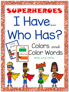 https://www.teacherspayteachers.com/Product/I-Have-Who-Has-Colors-and-Color-Words-Superheroes-2542278