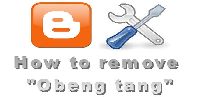cara menghilangkan tanda obeng di blog