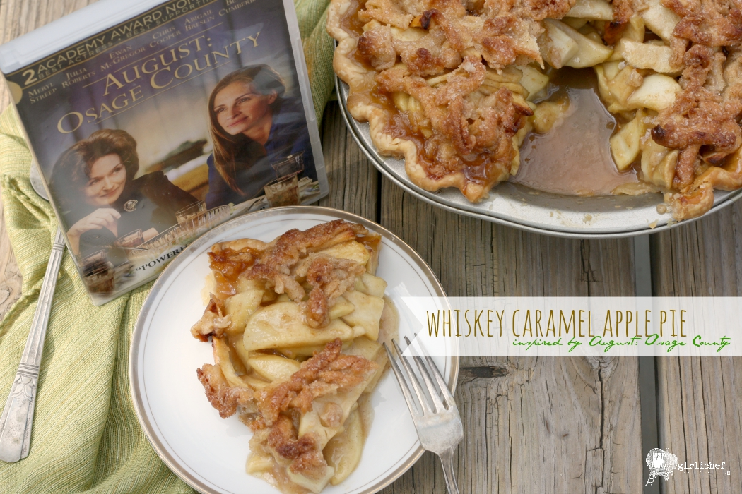 Whiskey Caramel Apple Pie inspired by August: Osage County #foodnflix