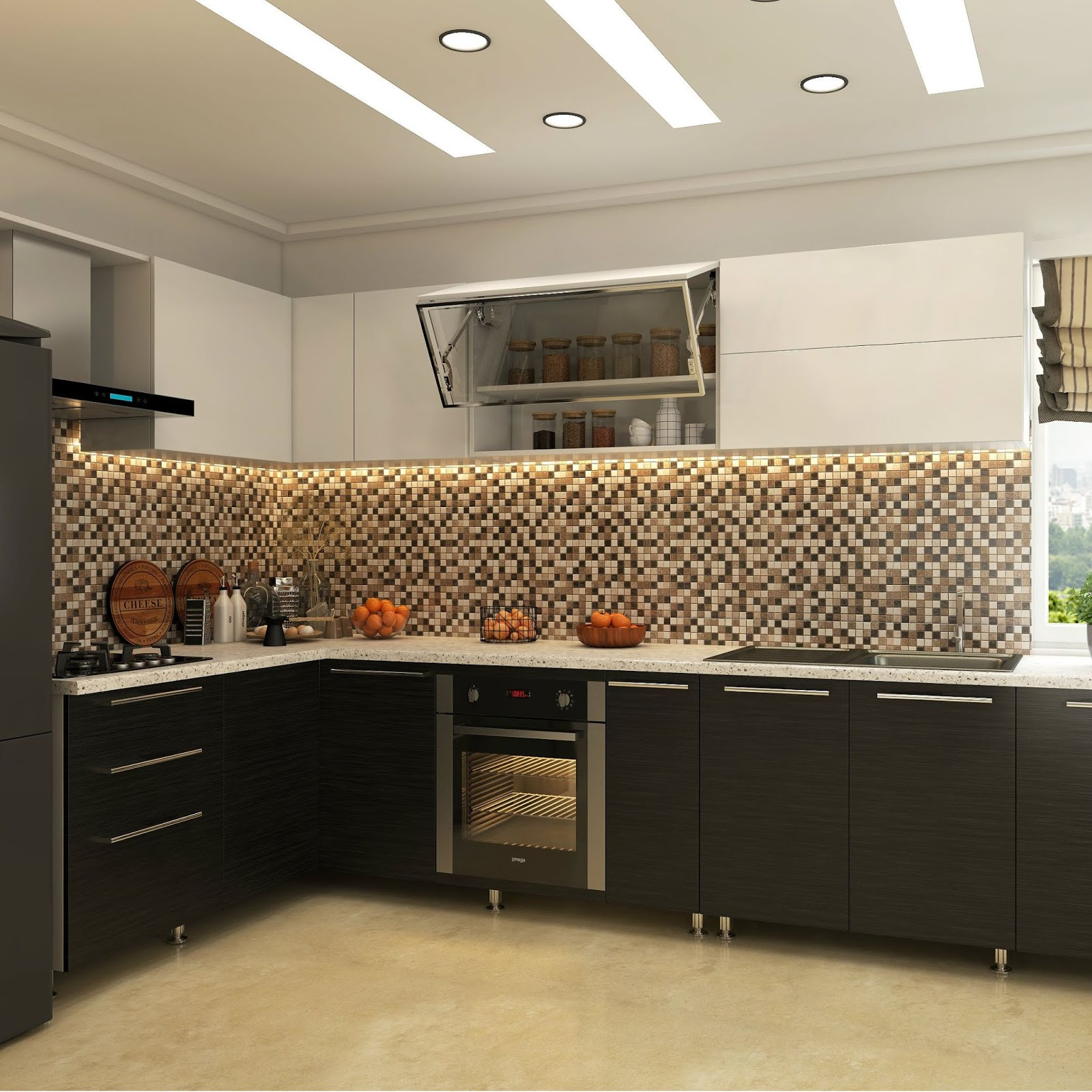 Modular Kitchen Upper Cabinets Vishu Interiors Low Cost Kitchen Cabinet Ideas