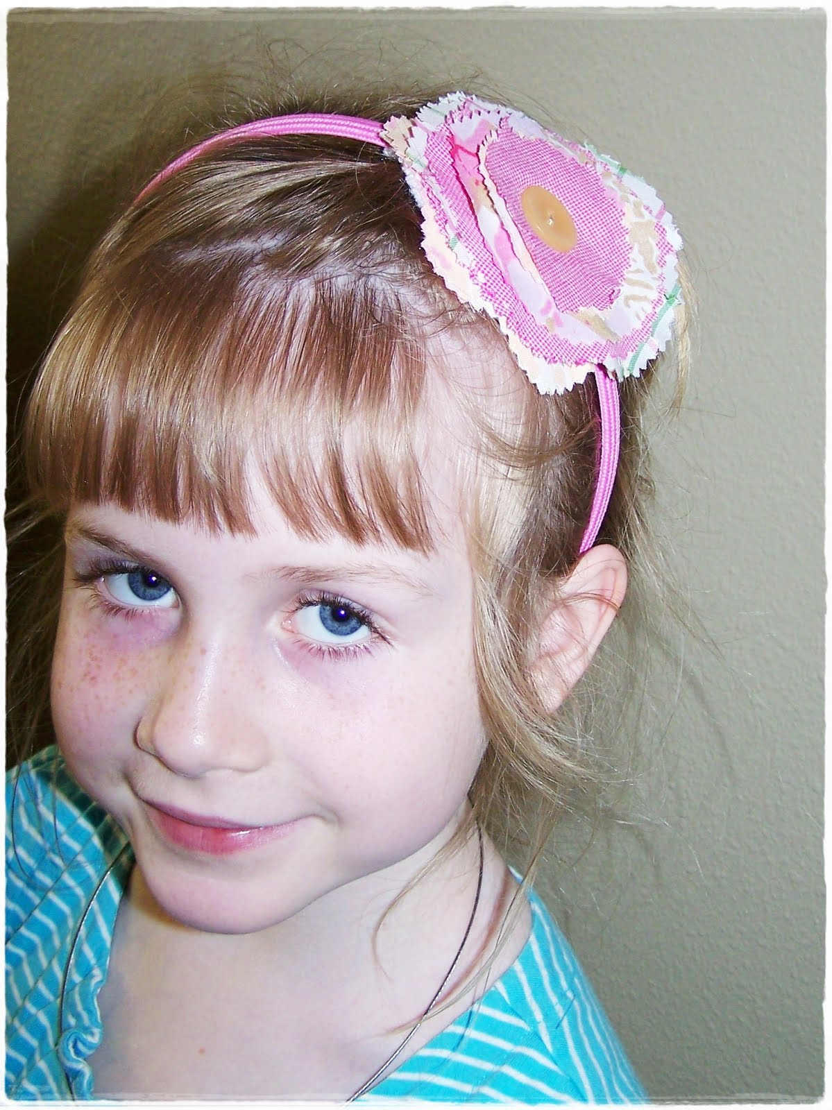Ric Rac Rabbit Repurposed Fabric Flower Headbands