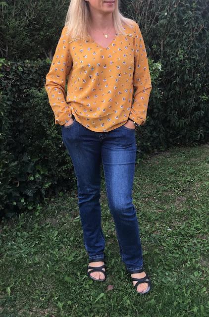 blouse be pretty atelier de la scammit