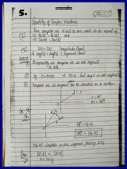 iitjee notes on complex number 6