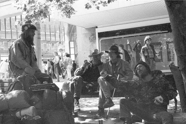 Hambourg, Beatnicks, Gerhart-Hauptmann, © L. Gigout, 1990