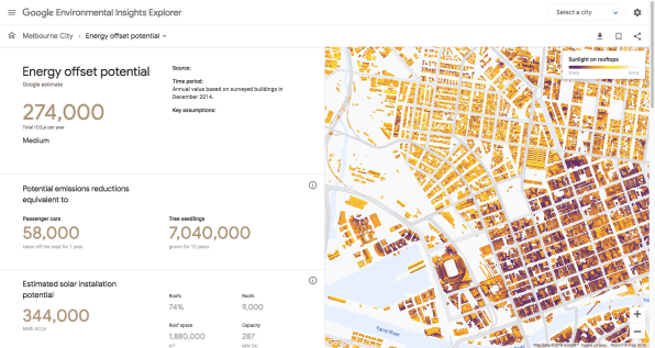 A new use for Google Maps: calculating a city's carbon footprint.