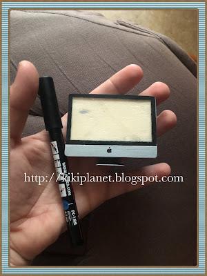 kiki monchhichi ordinateur apple i-mac handmade fait main miniature