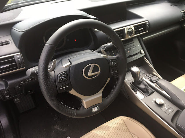 Interior view of 2017 Lexus IS 200t