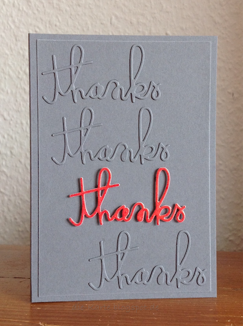 """thanks"" Stampin´ up"