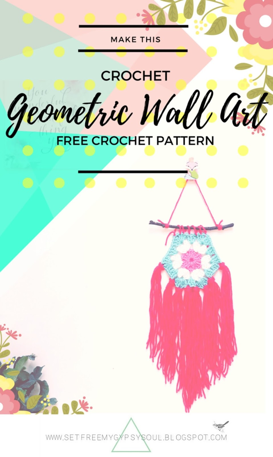 free bohemian gypsy soul interior design diy tutorial crochet pattern