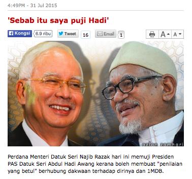Image result for Gambar hadi najib dan 1MDB