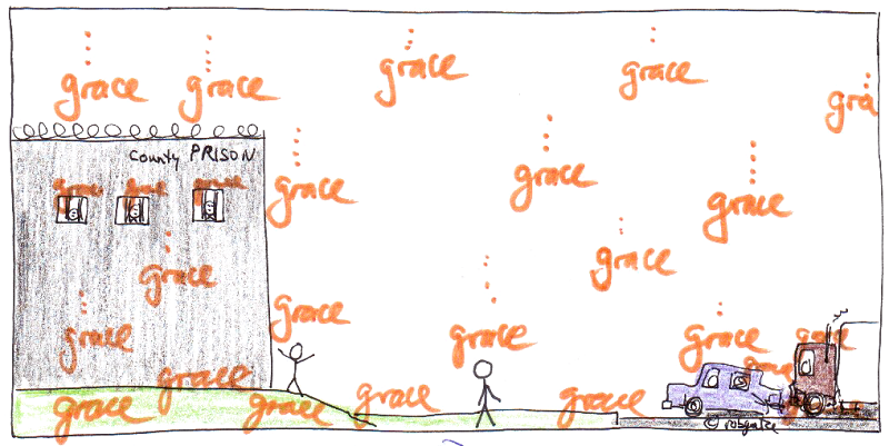 God's grace for all, drawing by robg