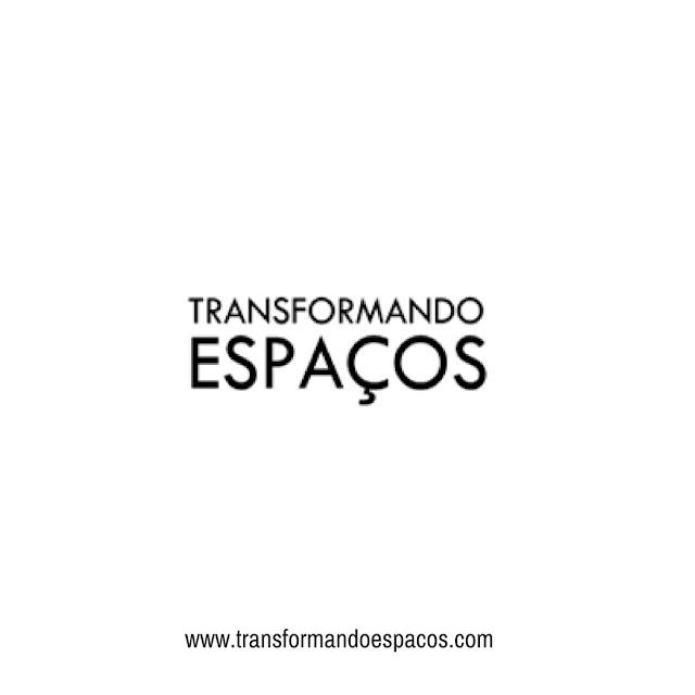 Logo Transformando Espaços Branca
