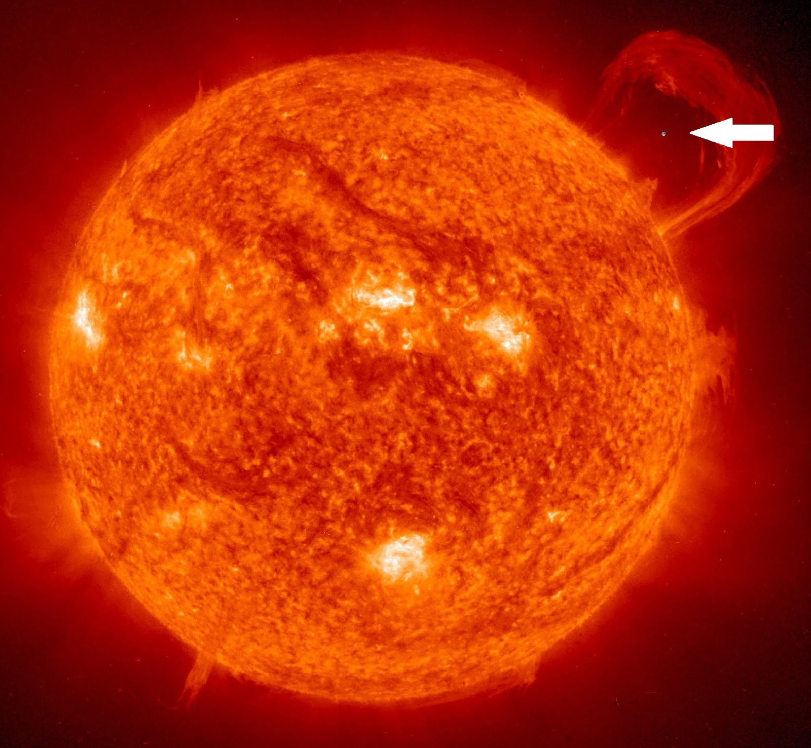 sun compared to earth
