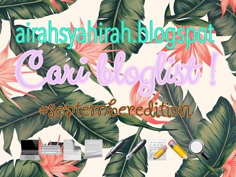 Segmen AIRAHSYAHIRAH.BLOGSPOT Cari Bloglist !