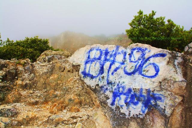 Vandalisme di Gunung Papandayan.