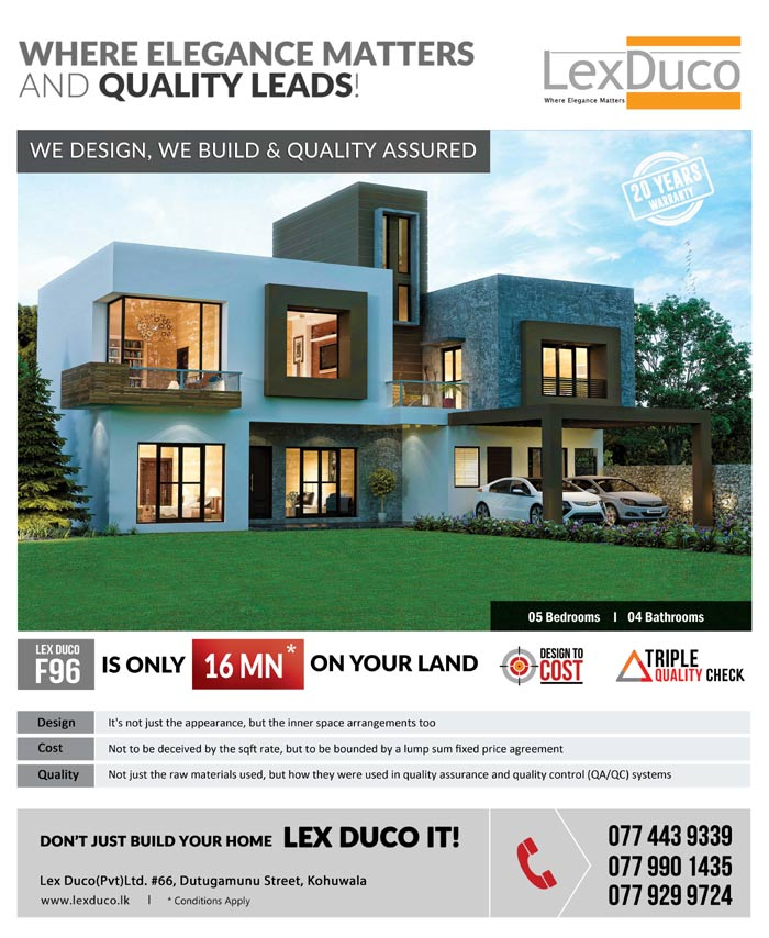 5 bedroom Lex Duco F 96 is only 16 Mn on your land