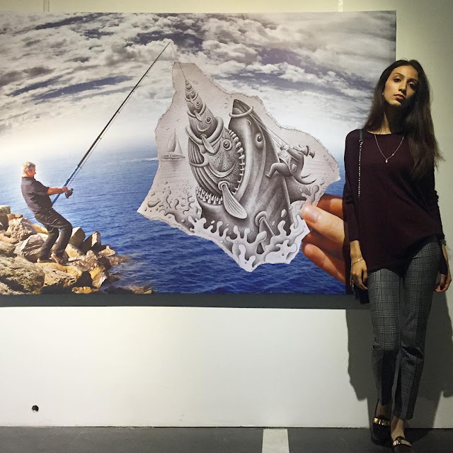 Art - Ben Heine Exhibitions in Russia - Бен Хайне Россия - Pencil Vs Camera - Карандаш против камеры 2015 - photos from Fans 13