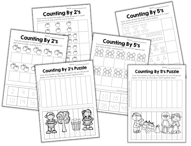 Common Worksheets » Multiplication Skip Counting - Preschool and ...
