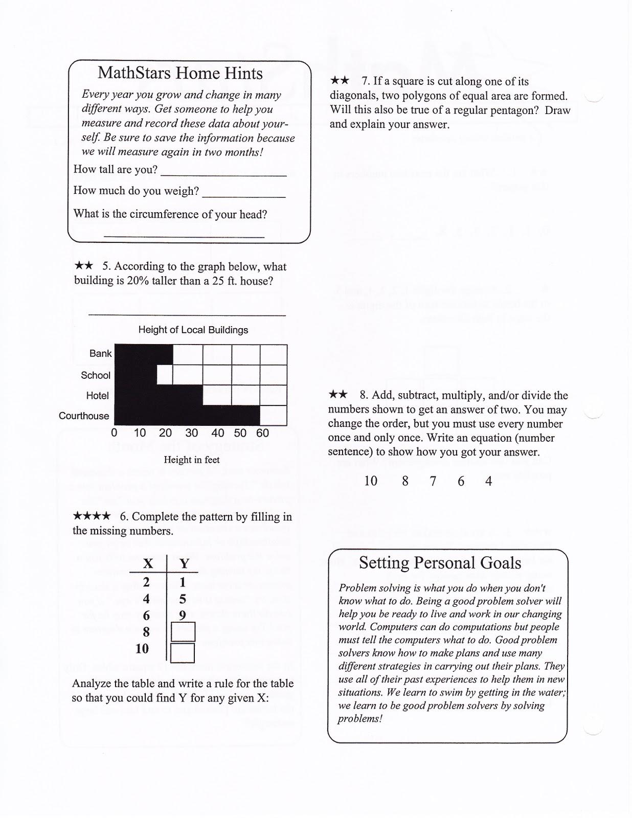 Mrs White S 6th Grade Math Blog October