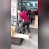 A video footage of a woman beating up a man has surfaced.