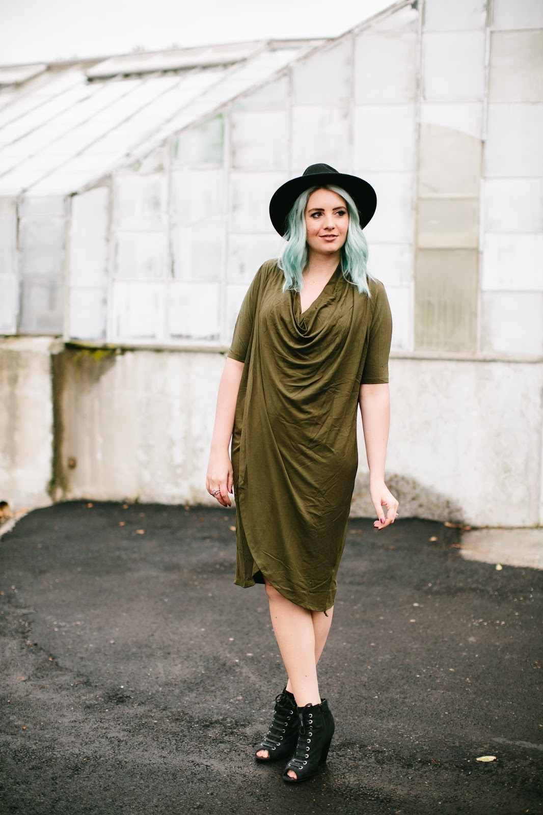 Modest Dress, Draped Dress, Utah Fashion Blogger