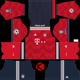 FC Bayern Munich 2018/19 UCL Kit - Dream League Soccer Kits