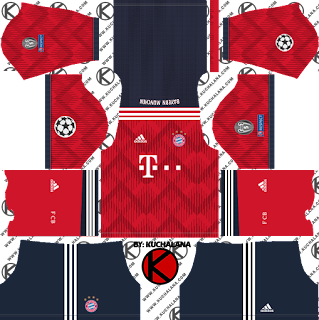 FC Bayern Munich 2018/19 UCL Kit - Dream League Soccer Kits