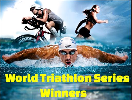 itu, triathlon, world series, championship, men's, women's, swim, run, cyclic, winners, champions.