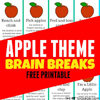 Apple theme brain breaks