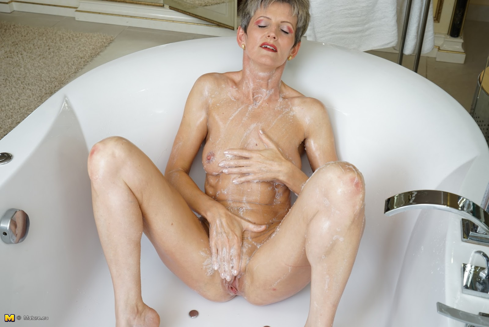 Masturbating mature women