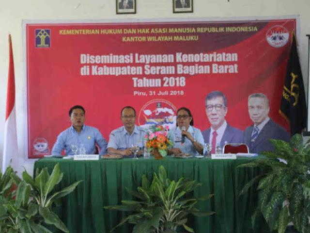 KemenkumHAM Maluku Gelar Diseminasi Layanan Kenotariatan di SBB