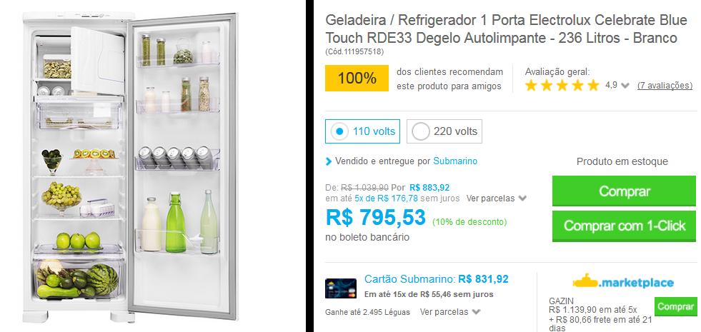 www.submarino.com.br/produto/111957518/geladeira-refrigerador-1-porta-electrolux-celebrate-blue-touch-rde33-degelo-autolimpante-236-litros-branco?opn=COMPARADORESSUB&franq=AFL-03-117316