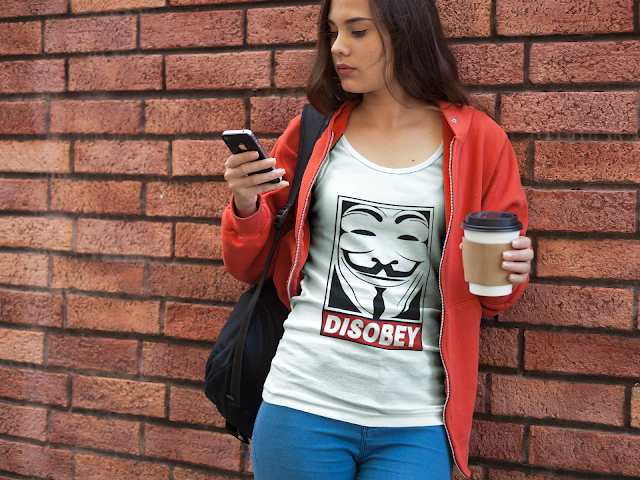 Disobey Women's Slouchy Tee 4