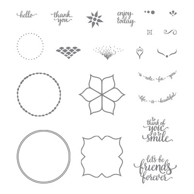 This image shows all the stamp images in the Eastern Beauty Photopolymer stamp set by Stampin' Up!