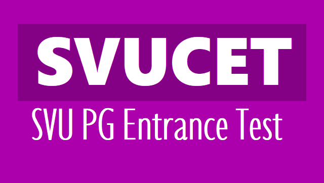 SVUCET 2020 notification - svu pgcet sv university pg entrance