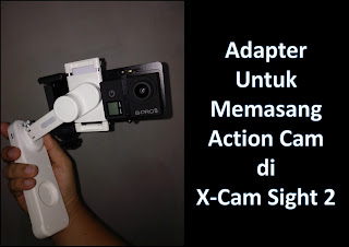 Adapter Action Cam to X-cam Sight 2