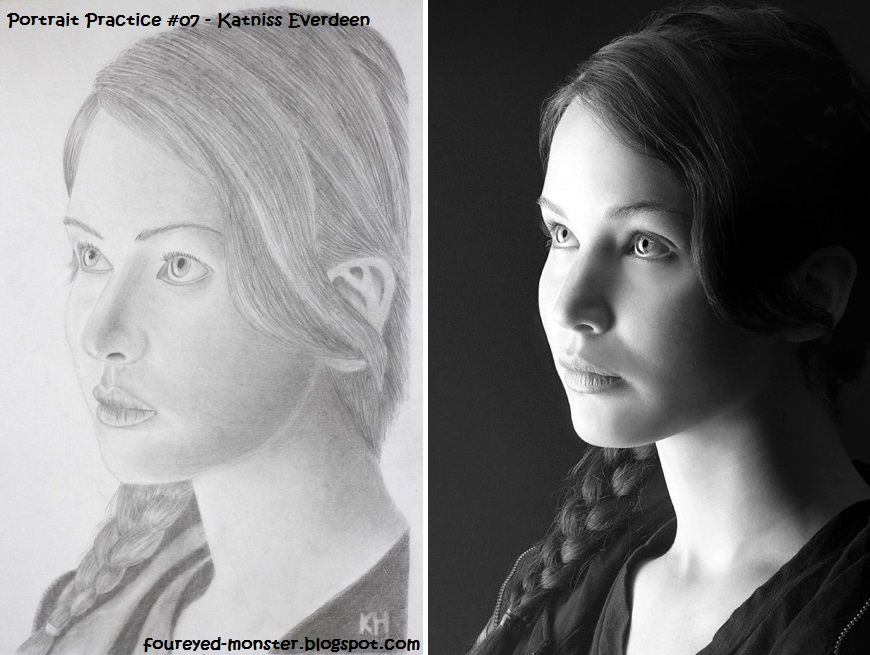 Comparison between a slightly scaled up drawing versus the black and white reference photo