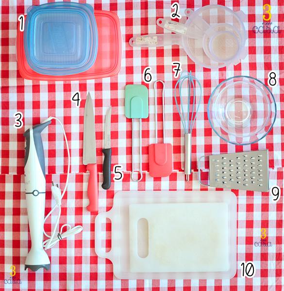 utensilios domesticos importantes na cozinha