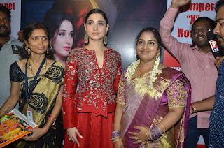 Tamannah Bhatia in Beutiful Red Dress at  Tirumala Furnitures Launch, Nizampet