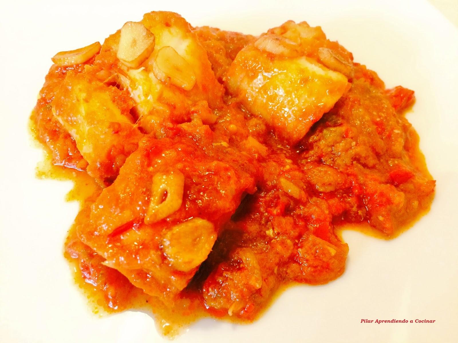 Aprendiendo a cocinar bacalao en tomate con patatas - Cocinar bacalao desalado ...