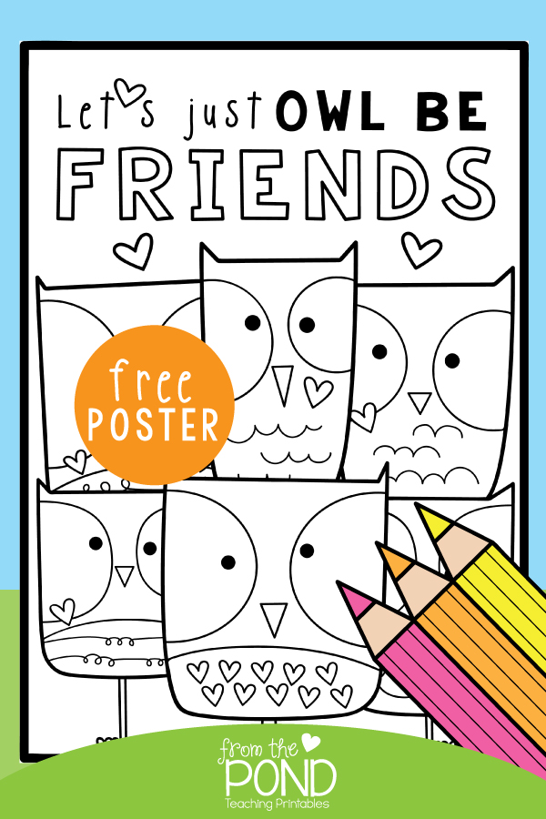 lets owl be friends worksheet freebie