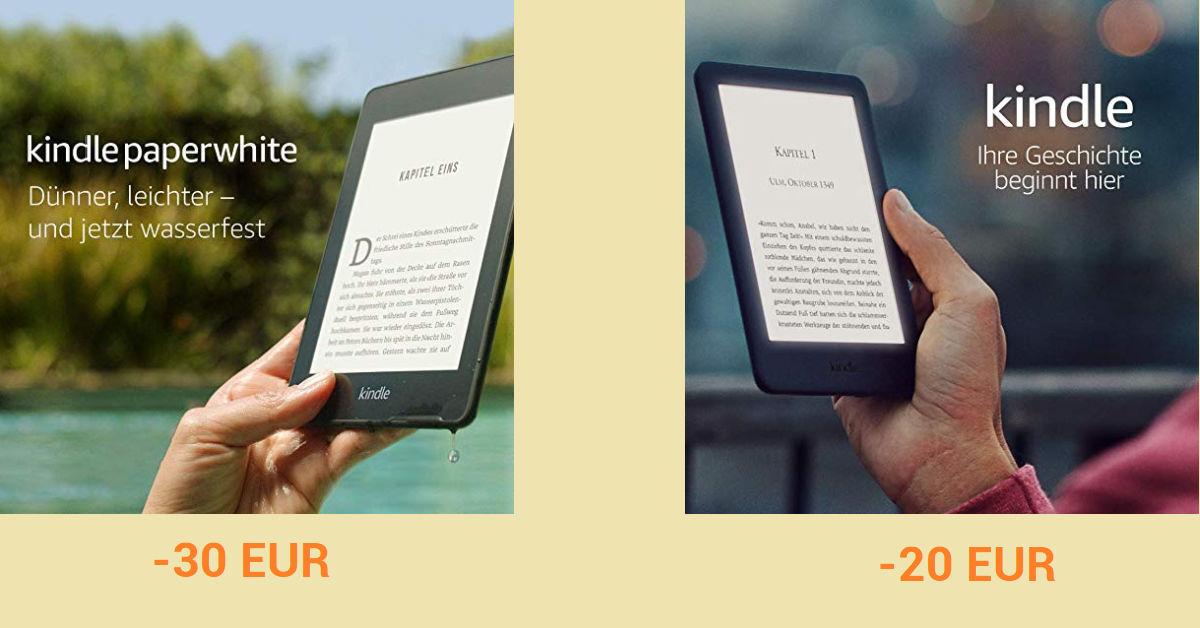 Kindle 10 i Kindle Paperwhite 4 przecenione 2 marca w Amazon.de