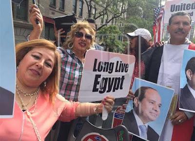 مظاهرات تأييد السيسي في نيويورك