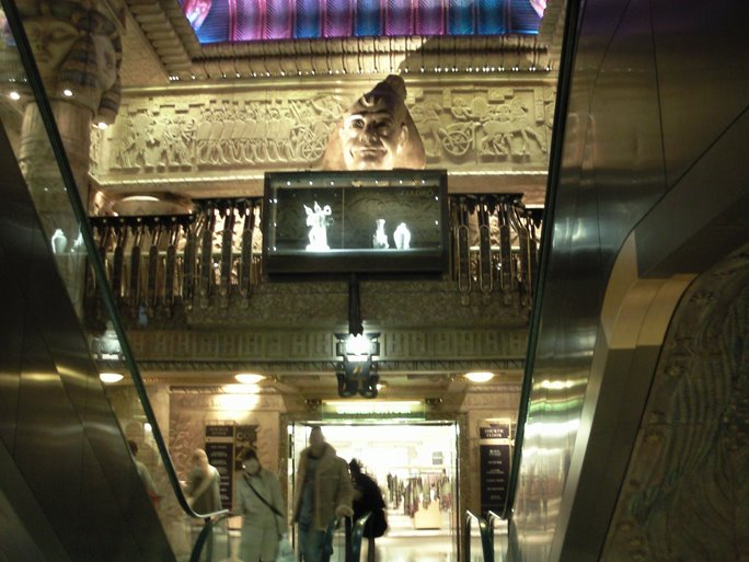The Egyptian staircase Harrods